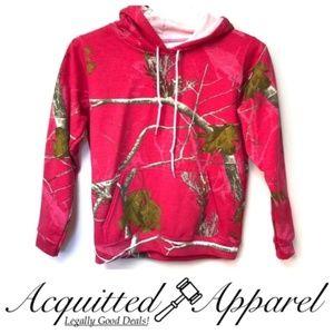 NWOT Realtree Mossy Oak Pink Camo Hoodie Jacket